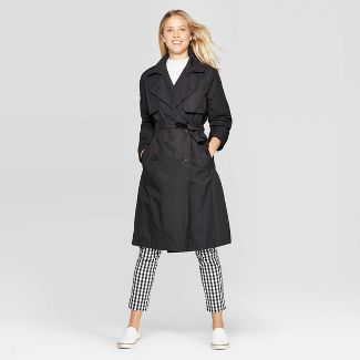 Women's Trench Coat - A New Day™ Black M