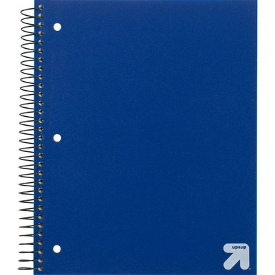 Spiral Notebook 1 Subject College Ruled PP 100 Sheets - up & up™