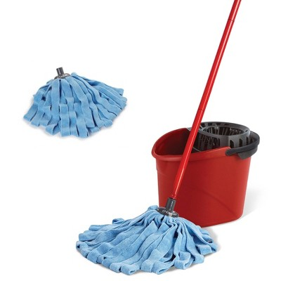 O-Cedar Microfiber Cloth Mop & QuickWring Bucket System with 1 Extra Refill