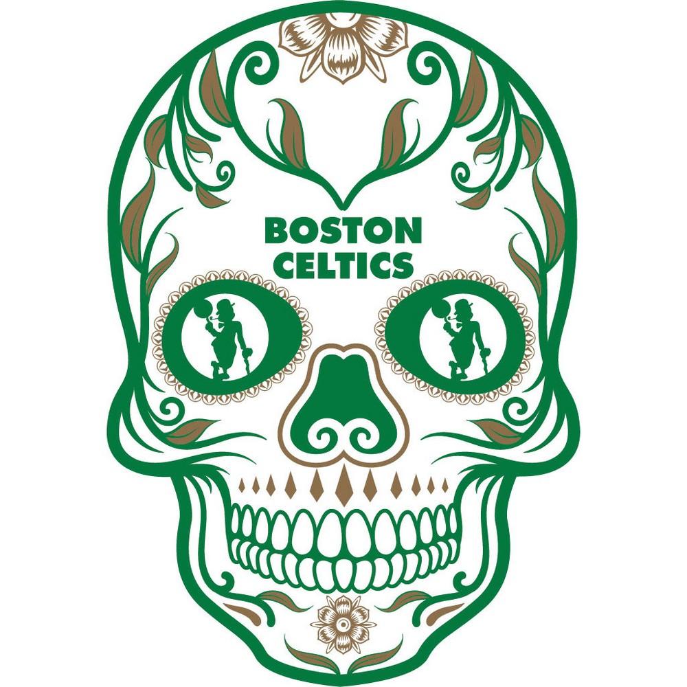 NBA Boston Celtics Small Outdoor Skull Decal