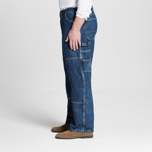 1e1da69c646 Dickies Men's Big & Tall Relaxed Straight Fit Double Knee Denim Carpenter  Jeans