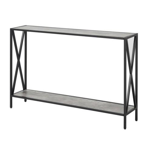 Tucson Console Table Faux Birch White Johar Furniture Target