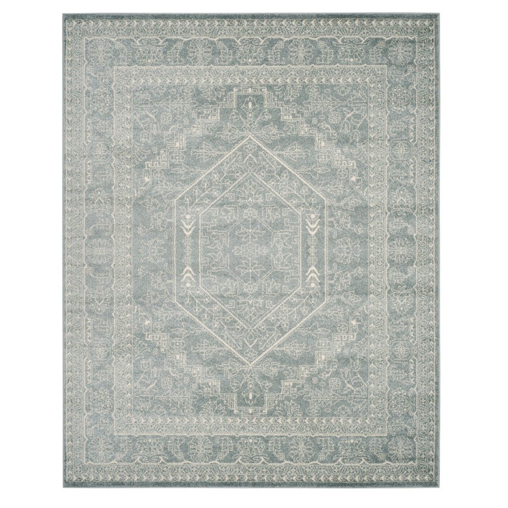 Slate/Ivory (Grey/Ivory) Medallion Loomed Area Rug 10'X14' - Safavieh