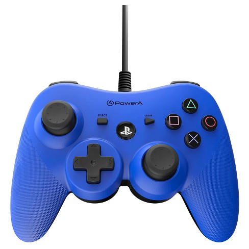 Power A Wired Controller for PlayStation 3 - Blue - image 1 of 3
