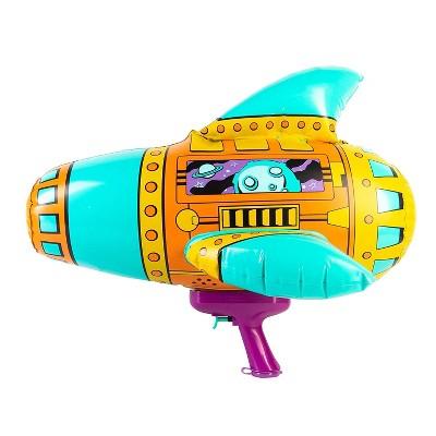 "Swim Way 20"" Teal, Orange and Purple Inflatable Spaceship Water Blaster"
