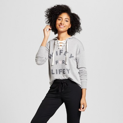 Love & Cherish Women's Wifey For Lifey Bridal Sleep Sweatshirt - Heather M