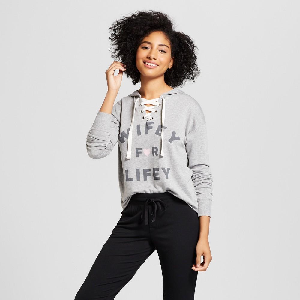 Love & Cherish Women's Wifey For Lifey Bridal Sleep Sweatshirt - Heather (Grey) XS