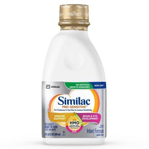 Similac Pro-Sensitive Non-GMO Infant Formula with Iron Ready-to-Feed - 32 fl oz - image 1 of 4