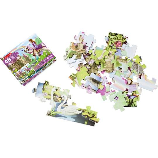 Melissa And Doug Fairy Tale Castle Jumbo Floor Puzzle 48pc image number null