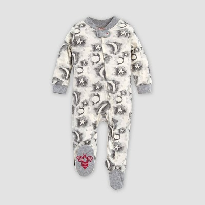 Burt's Bees Baby® Baby Organic Cotton Cloudy Night Sleep N' Play Pajama Jumpsuit - Gray 0-3M