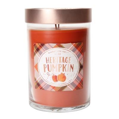 21oz X-Large Lidded Jar 2-Wick Candle Heritage Pumpkin - Signature Soy