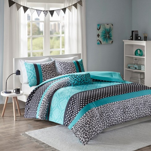 Christa Comforter Set King California King 4pc Teal