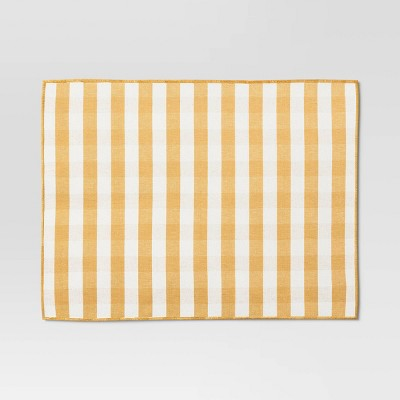 Warm Yellow Check Placemat - Threshold™