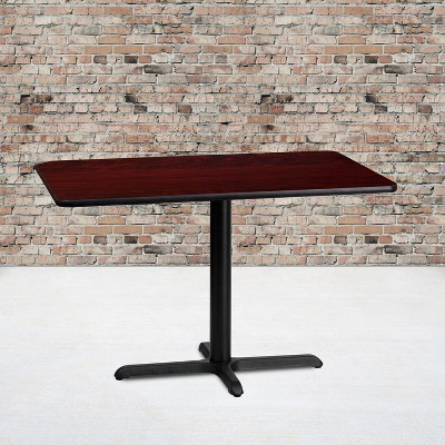 Flash Furniture 24'' x 42'' Rectangular Laminate Table Top with 23.5'' x 29.5'' Table Height Base