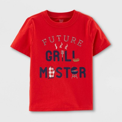 Baby Boys' 'Grill Master' Short Sleeve T-Shirt - Just One You® made by carter's Red 18M