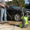 GreenWorks Vertical Pressure Washer Includes Hose and Nozzle Exotic Green - image 2 of 3