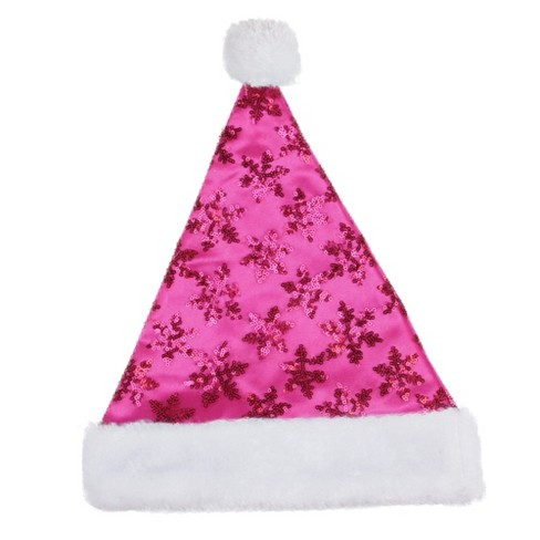 Northlight Traditional Red and White Plush Unisex Adult Christmas Santa Hat Costume Accessory - Medium - image 1 of 1