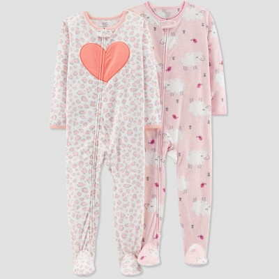 Baby Girls' Sheep Pajama Set - Just One You® made by carter's Pink 18M