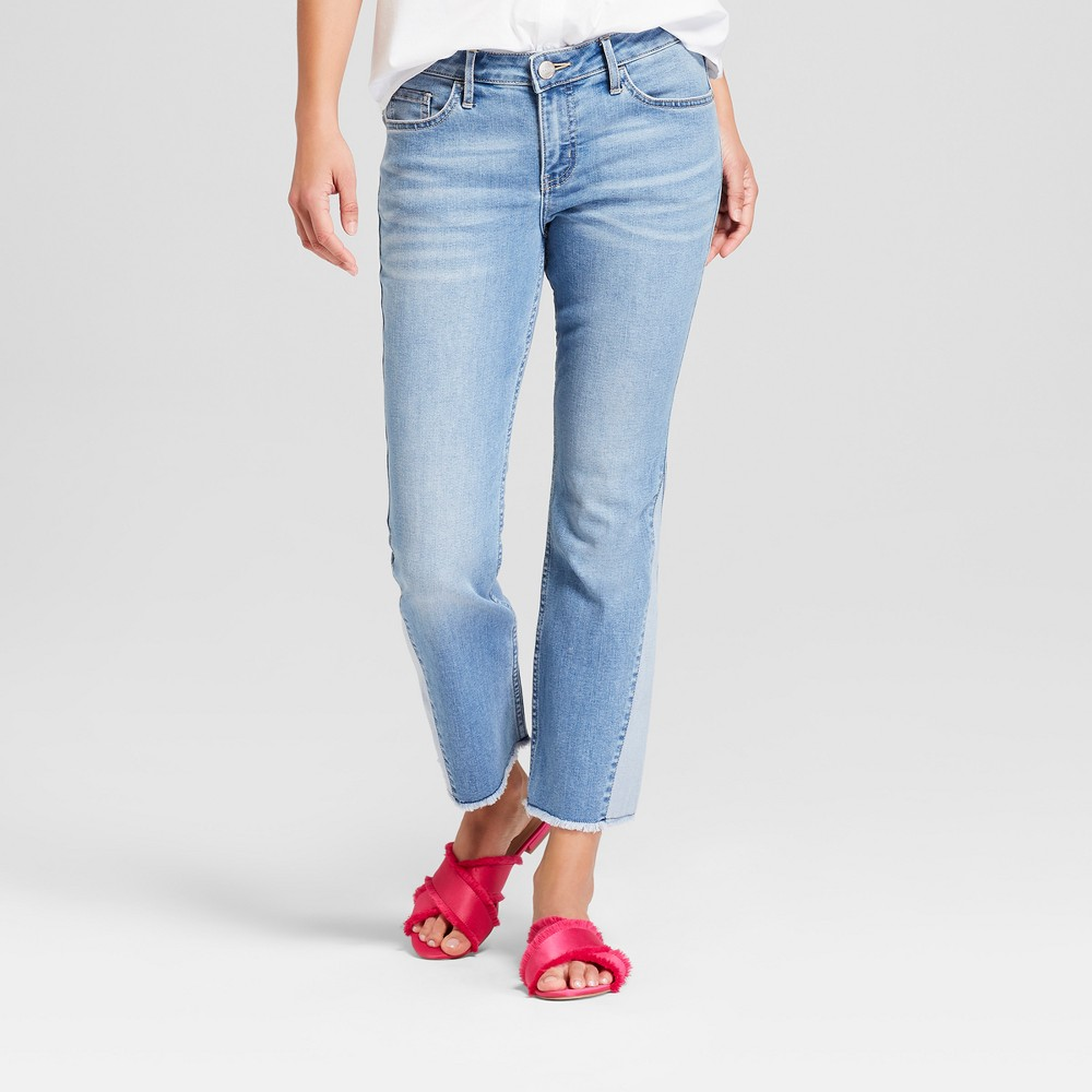Crafted by Lee Women's Reworked Flare Mid-Rise Crop Jeans - Light Wash 16, Blue