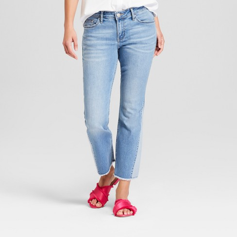 Women's Reworked Flare Mid-Rise Crop Jeans  - Crafted by Lee Light Wash - image 1 of 3