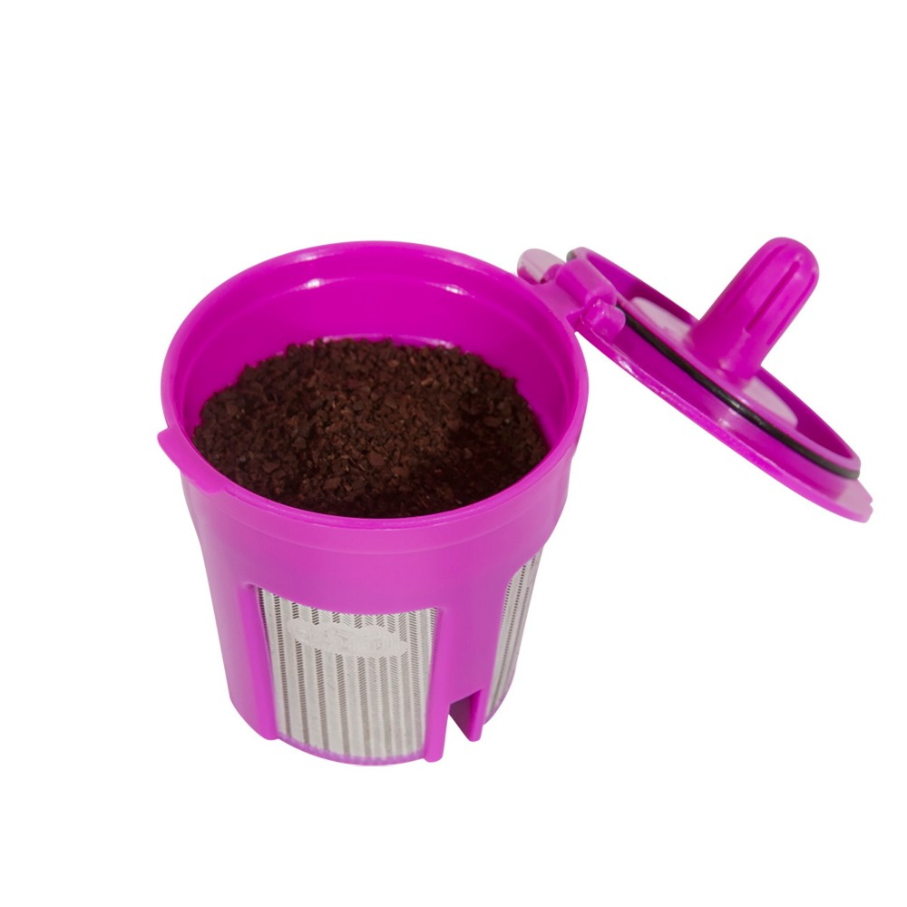 Image of Perfect Pod Eco-Fill 2.0 Reusable Single-Serve Coffee Filter, Purple