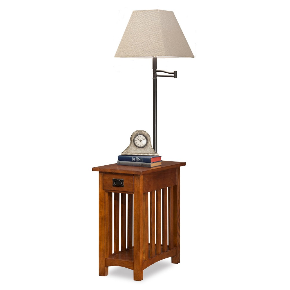 Favorite Finds Mission Chairside Swing Arm Lamp Table Wit