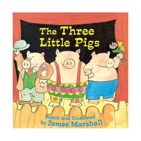 The Three Little Pigs - (Reading Railroad Books) by  James Marshall (Paperback) - image 1 of 1