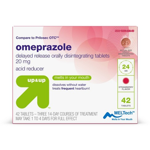 Omeprazole Delayed Release Orally Dissolving Tablets - Strawberry - 42ct - up & up™ - image 1 of 4