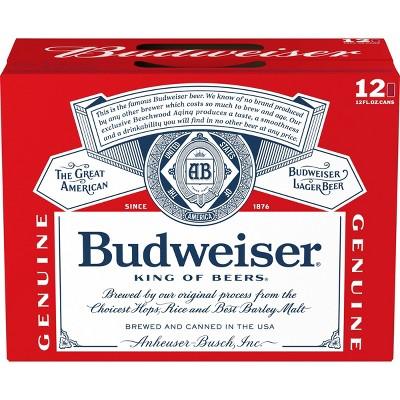 Budweiser Lager Beer - 12pk/12 fl oz Cans