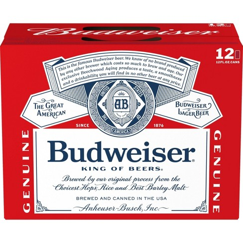 Budweiser Lager Beer - 12pk/12 fl oz Cans - image 1 of 4