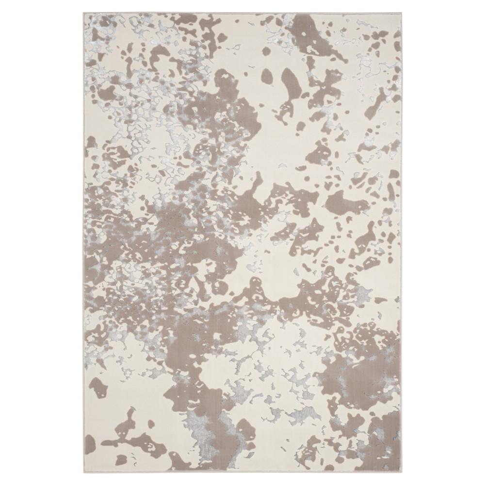 Cream Splatter Loomed Area Rug 5'1