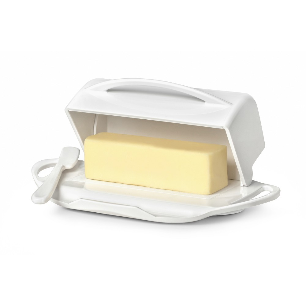 Image of 8oz Butter Dish White - Butterie