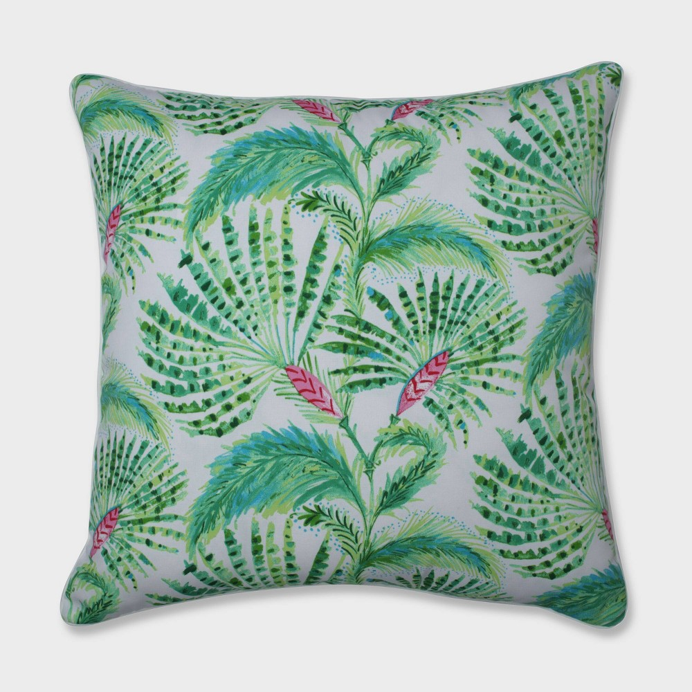 "Image of ""25"""" Shake and Stir Tropical Floor Pillow Green - Pillow Perfect"""