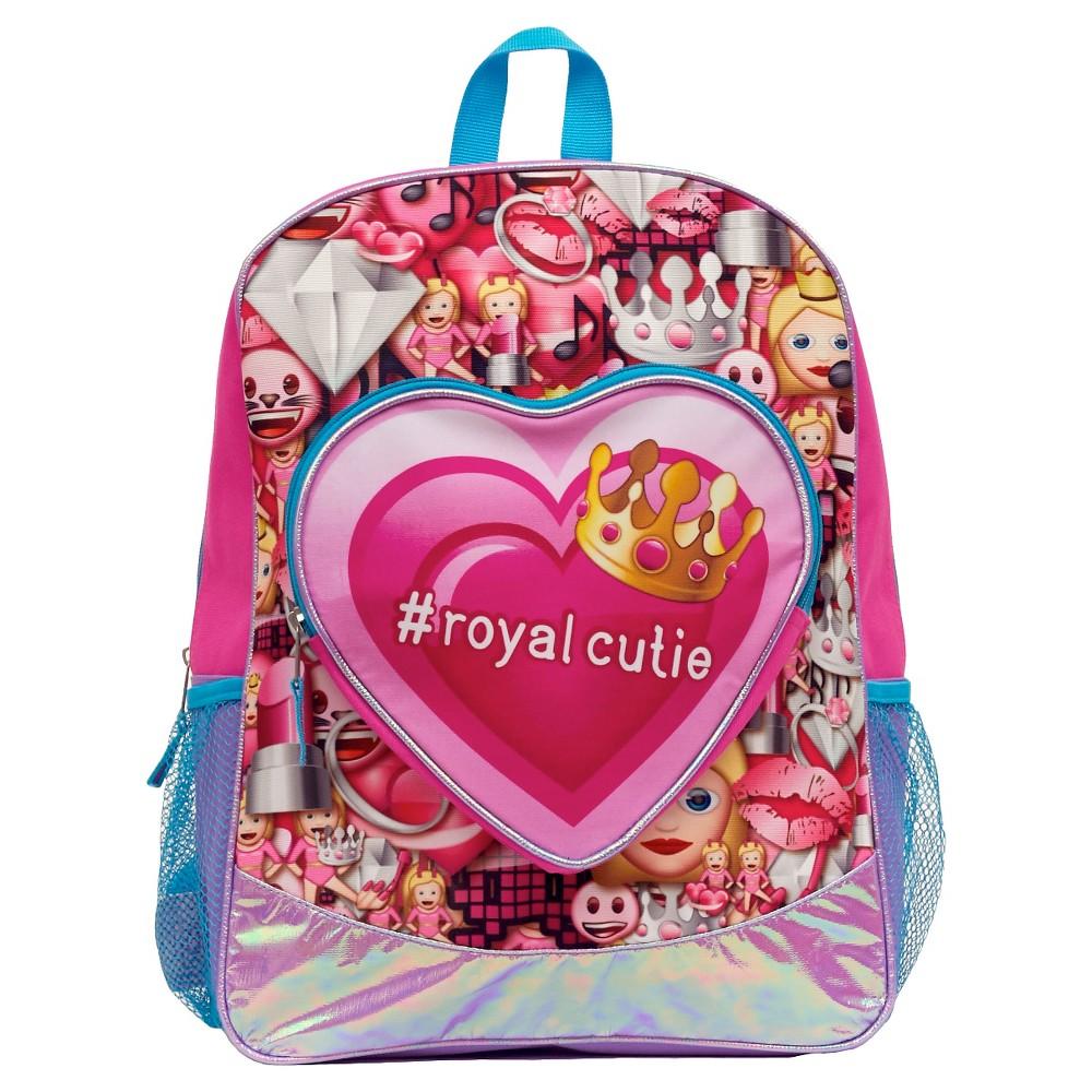 EmojiLand 16 #RoyalCutie Kids' Backpack - Blue, Bright Blue