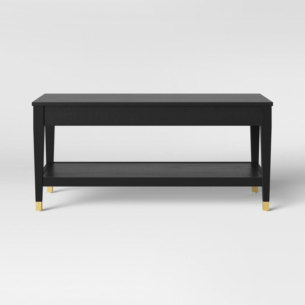 Duxbury Black Coffee Table with Gold Feet - Threshold