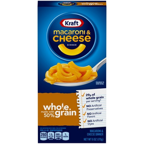 Kraft Whole Grain Macaroni & Cheese 6 oz - image 1 of 3