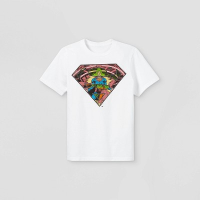 Boys' Superman Short Sleeve Graphic T-Shirt - White