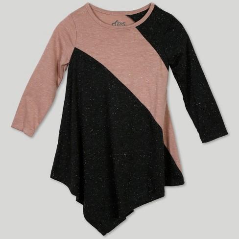 8076c0940a2 Afton Street Toddler Girls  Long Sleeve Dress - Pink   Target