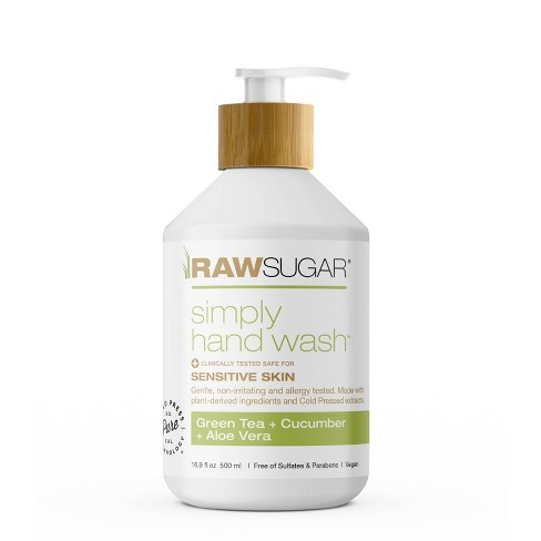 Raw Sugar Simply Hand Wash Sensitive Skin Green Tea + Cucumber + Aloe - 16.9 fl oz - image 1 of 4