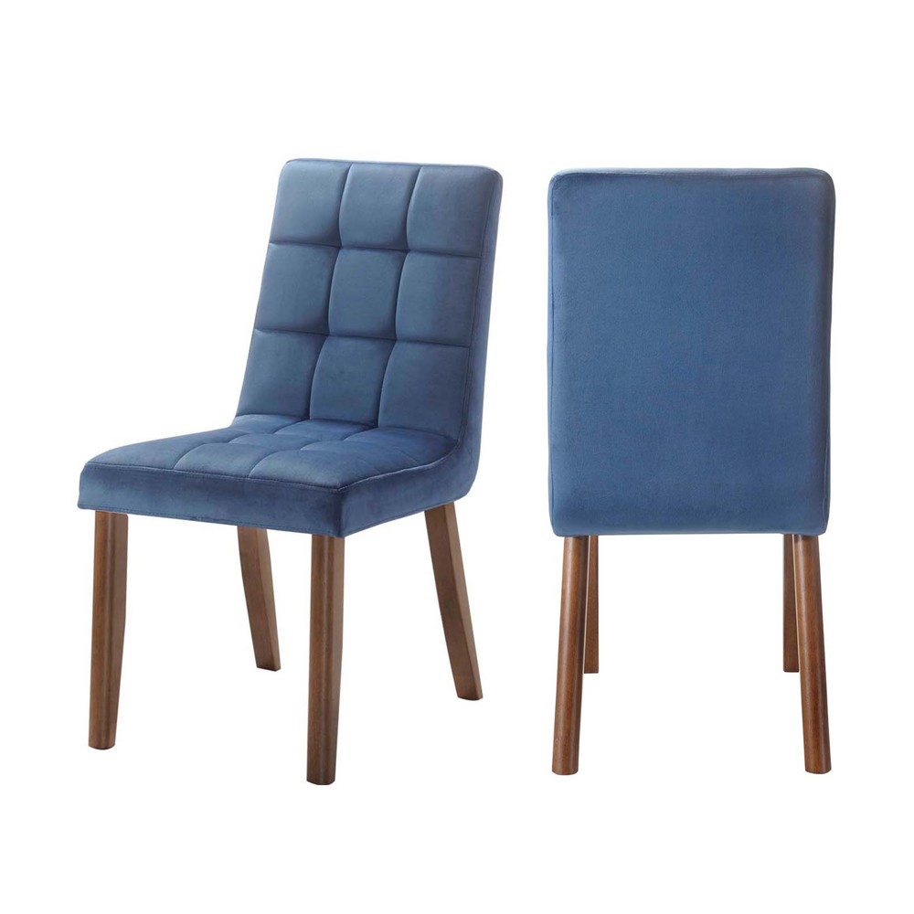 Rosie Tufted Side Chair Set Navy Blue - Picket House Furnishings