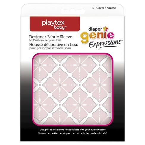Diaper Genie Fabric Cover - Pink Starburst - image 1 of 3