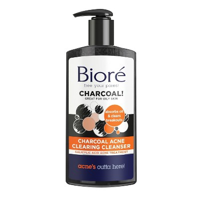 Biore Charcoal Acne Daily Cleanser 6.77 Oz by Biore