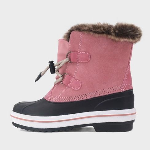 8a0cdf911d25 Girls  Araceli Short Suede Winter Boots - Cat   Jack™ Pink   Target