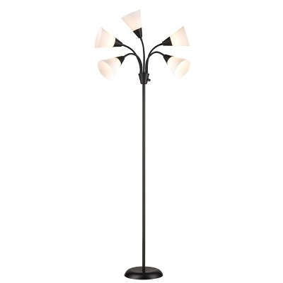 5 Head Floor Lamp (Includes LED Light Bulb)Black - Room Essentials™