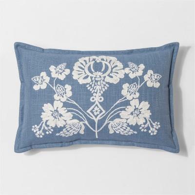 Blue Floral Lumbar Throw Pillow - Threshold™