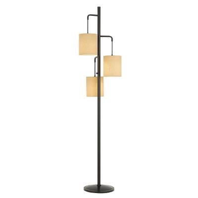 "72"" Metal Kirkwall Lantern Floor Lamp with 3 Baric Shades - Cal Lighting"