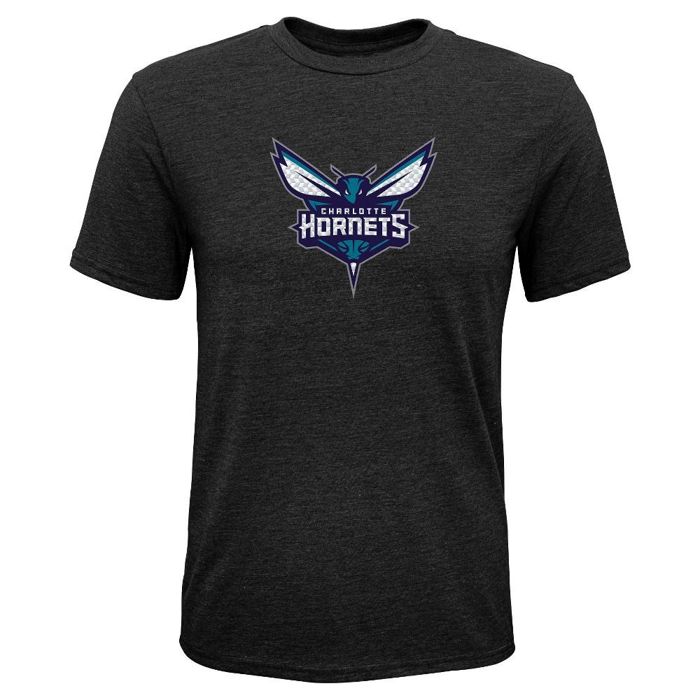Charlotte Hornets Boys' Buzzer Beater Gray Performance T-Shirt M, Multicolored