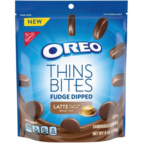 Oreo Thins Bites Fudge Dipped Latte Sandwich Cookies  - 6oz - image 1 of 4