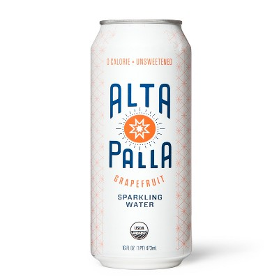 Alta Palla Organic Grapefruit Sparkling Water 16oz