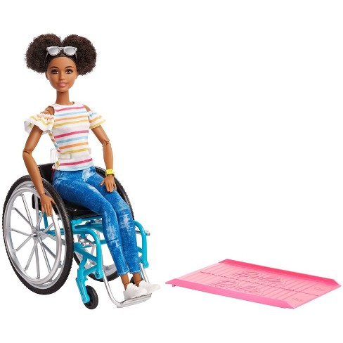 Barbie Fashionistas Doll #133 Brunette with Rolling Wheelchair and Ramp - image 1 of 4